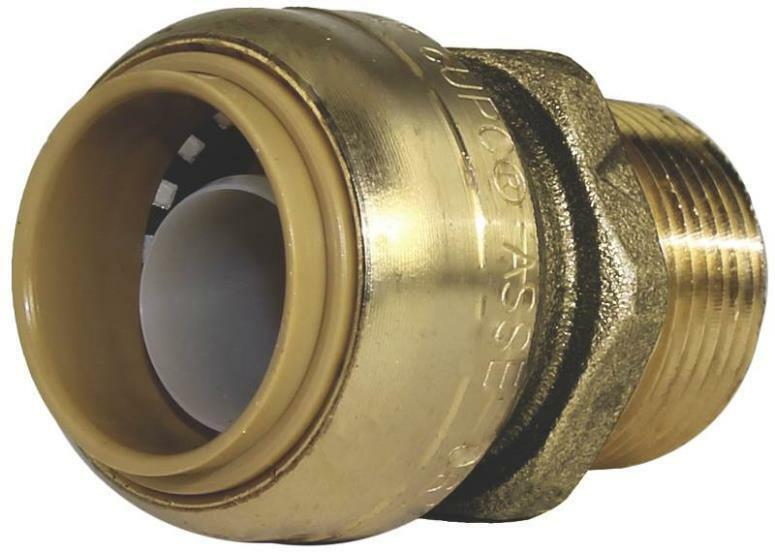 Sharkbite u lfa brass quot push fit copper pex cpvc male