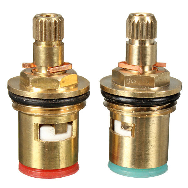 2pcs 1 2 Quarter Turn Tap Valve Cartridge Brass Ceramic