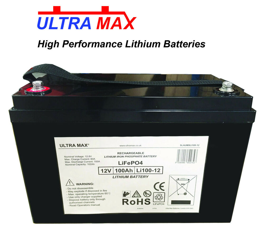 Car Battery System : Lithium lifepo v ah deepcycle battery car audio