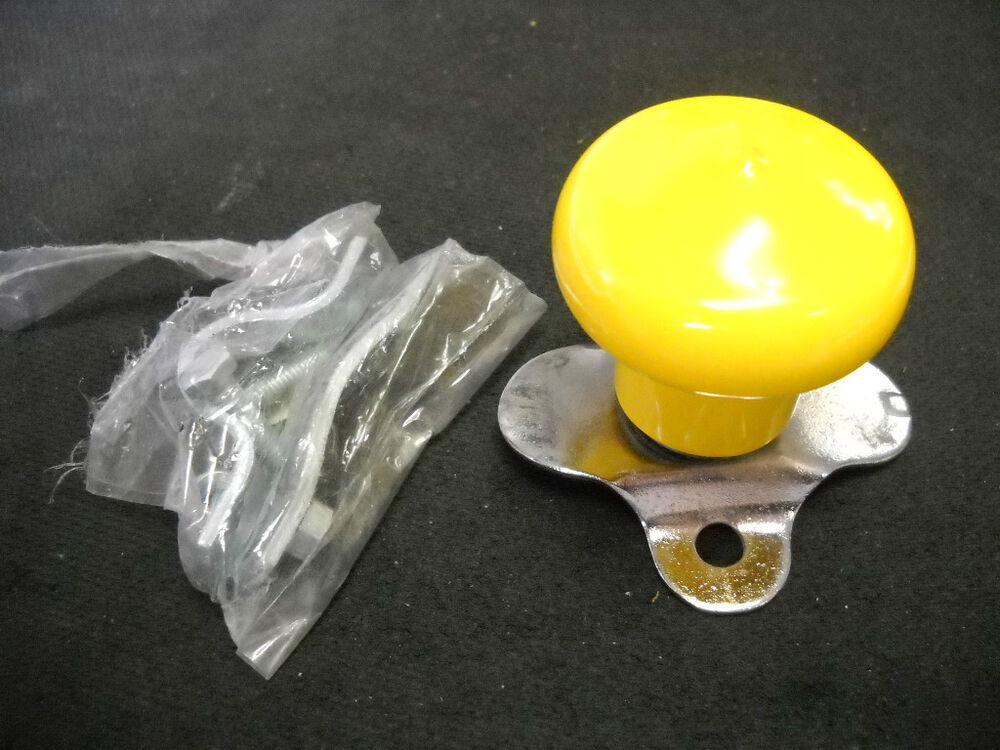 Tractor Steering Knobs : Yellow tractor steering wheel knob spinner ball bearing