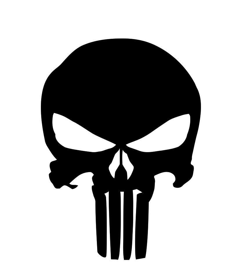 punisher skull stencil vinyl seals buds navy cerakote duracoat paint