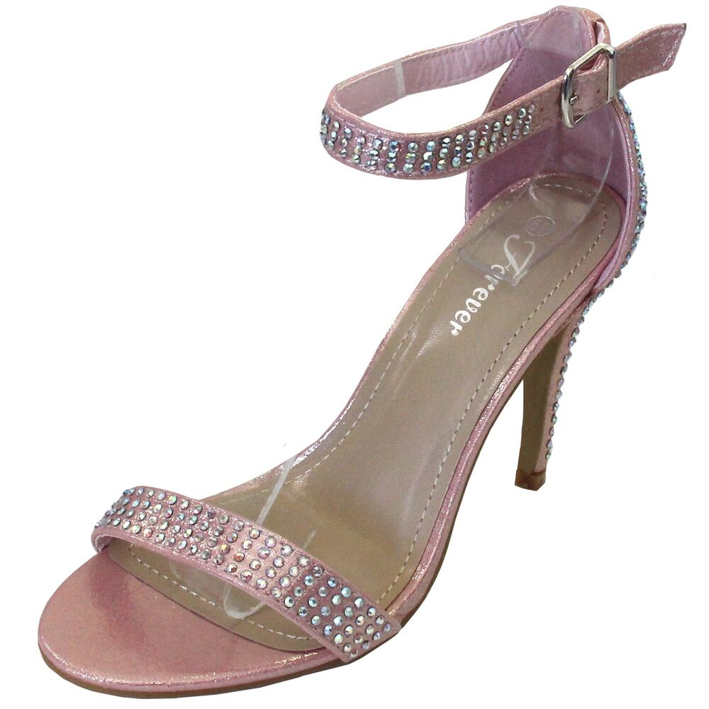 new s shoes evening rhinestones buckle closure high