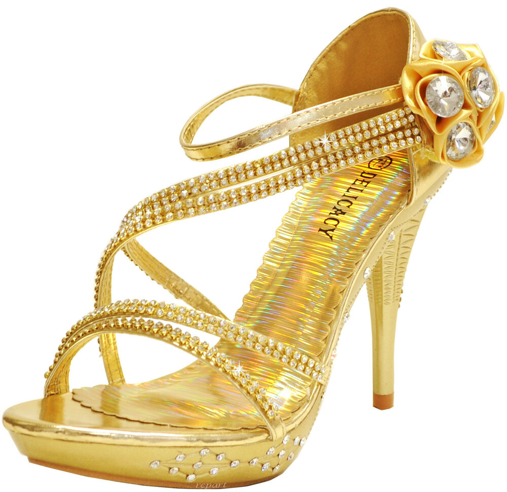 new s shoes stilettos rhinestones evening