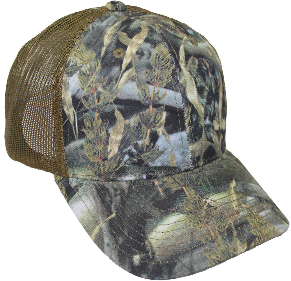 Cap fishouflage walleye fishing camo mesh back hat for Mesh fishing hats