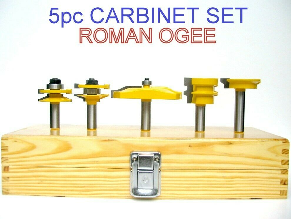5 Pc 3 1 2 Quot Ogee Raised Panel Amp Ogee R Amp S Router Bit Set