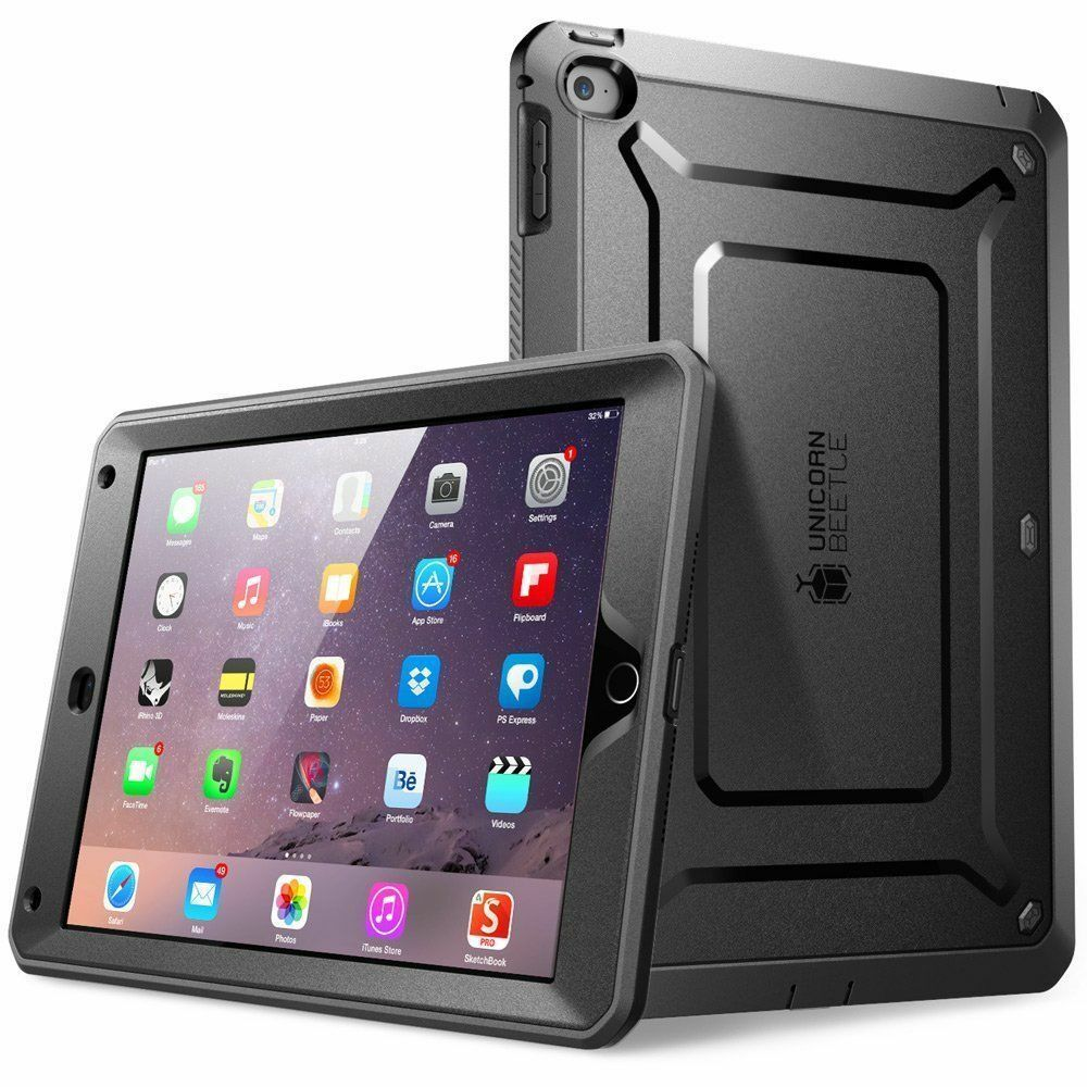 apple ipad air 2 case full body rugged built in screen protector bumper shell ebay. Black Bedroom Furniture Sets. Home Design Ideas