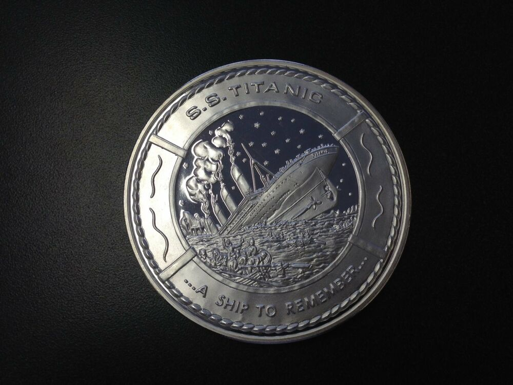 S S Titanic Proof Medallion A Ship To Remember 14 7