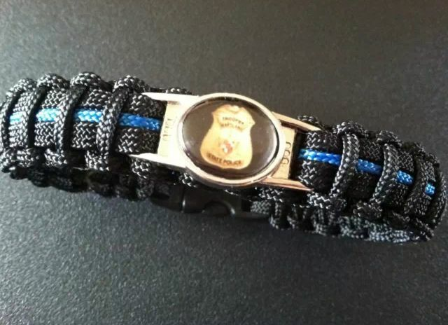 Thin Blue Line Paracord Bracelet Maryland State Police