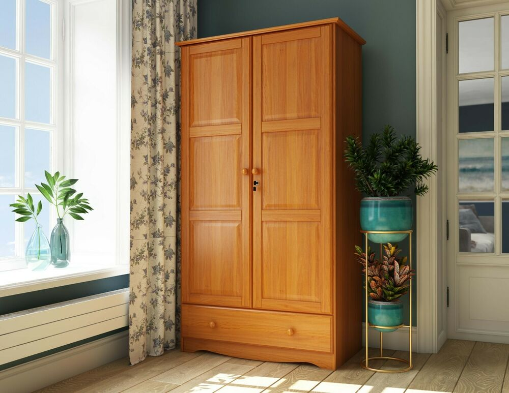 Solid wood universal wardrobe armoire closet by