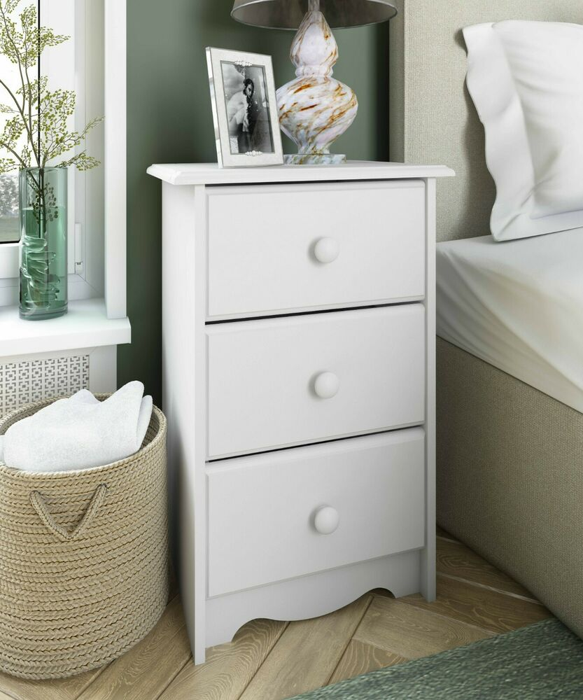 100 solid wood night stand with 3 drawers by palace for Wood nightstand with drawers