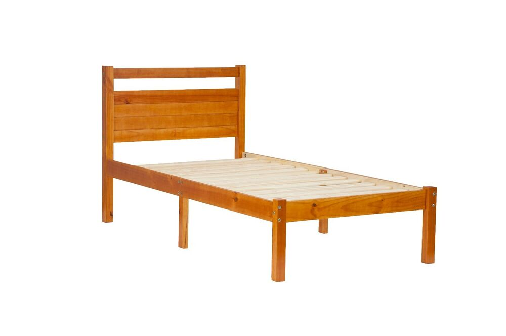 100 Solid Wood Bronx Platform Twin Bed In A Box By Palace