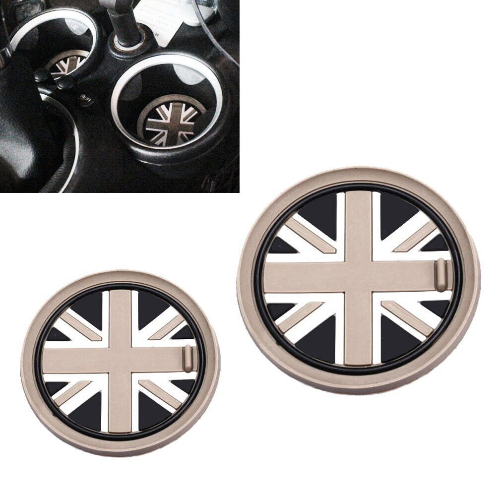 73mm black union jack uk flag style coasters for mini. Black Bedroom Furniture Sets. Home Design Ideas
