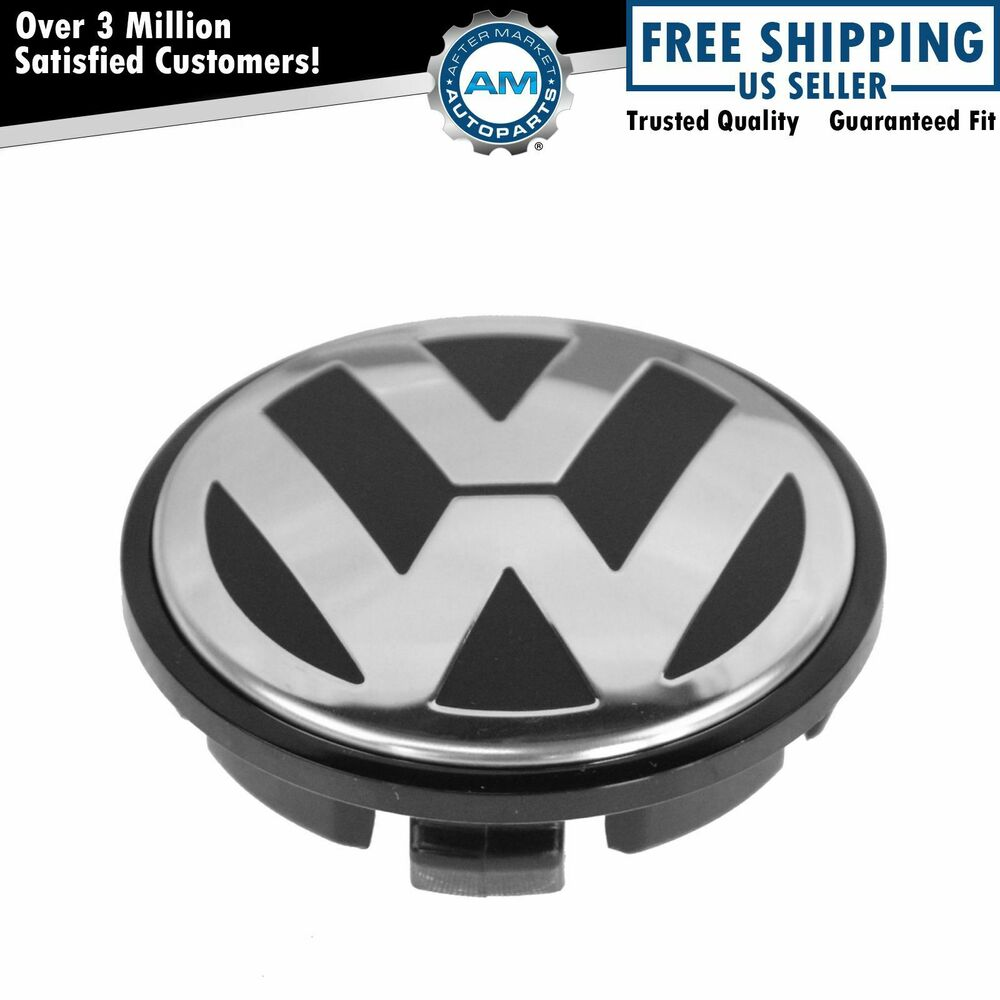oem chrome black 65mm center cap for volkswagen vw golf. Black Bedroom Furniture Sets. Home Design Ideas