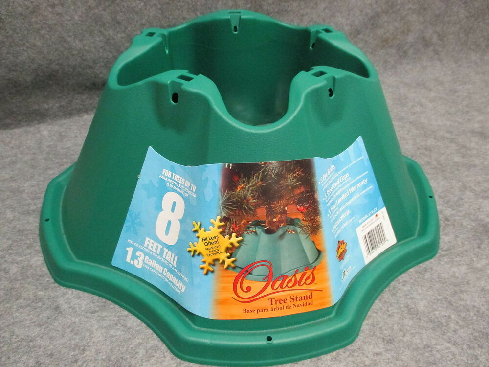 Jack-Post Oasis Christmas Tree Stand 519-ST Green Holds 8