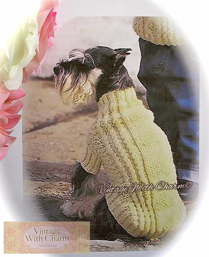 Cable And Hearts Dog Coat Free Pattern