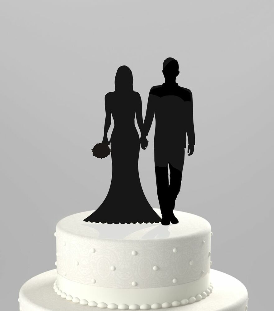Wedding Cake Topper Silhouette Couple Mr Amp