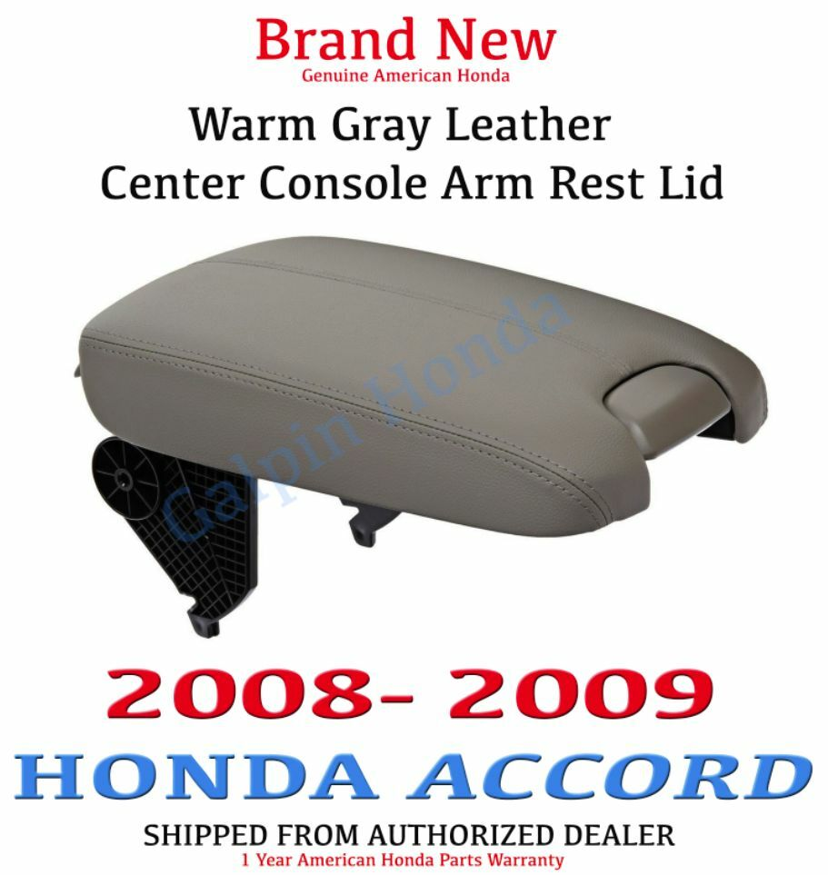 Genuine Oem Honda Accord Ex Gray Leather Armrest Lid 2008 2009 Ebay
