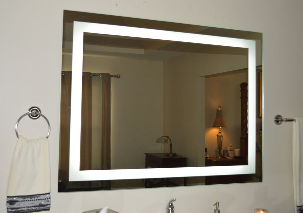 lighted bathroom vanity mirror led wall mounted hotel grade. Black Bedroom Furniture Sets. Home Design Ideas