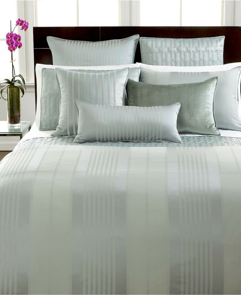 Hotel Collection Bedding Classic Stripe King Sham Frost
