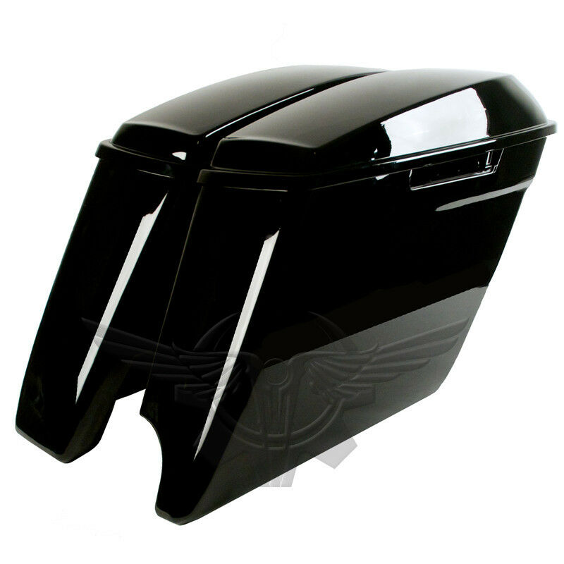 2 Into 1 Extended Stretched Saddlebags For Harley Davidson