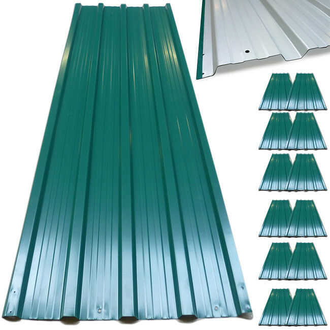 12x Corrugated Roof Sheets Profiled Galvanized Steel Sheet