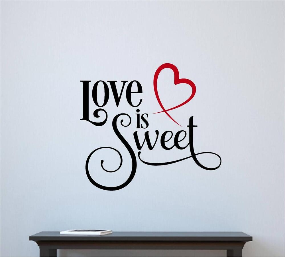 Live Laugh Love Vinyl Wall Decal Quote Home Decor Heart Valentine