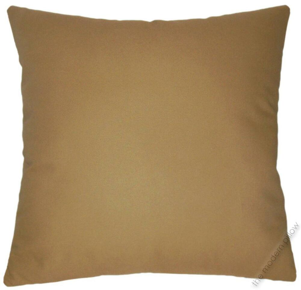 Caramel Brown Solid Decorative Throw Pillow Cover/Cushion Cover/Cotton 20x20
