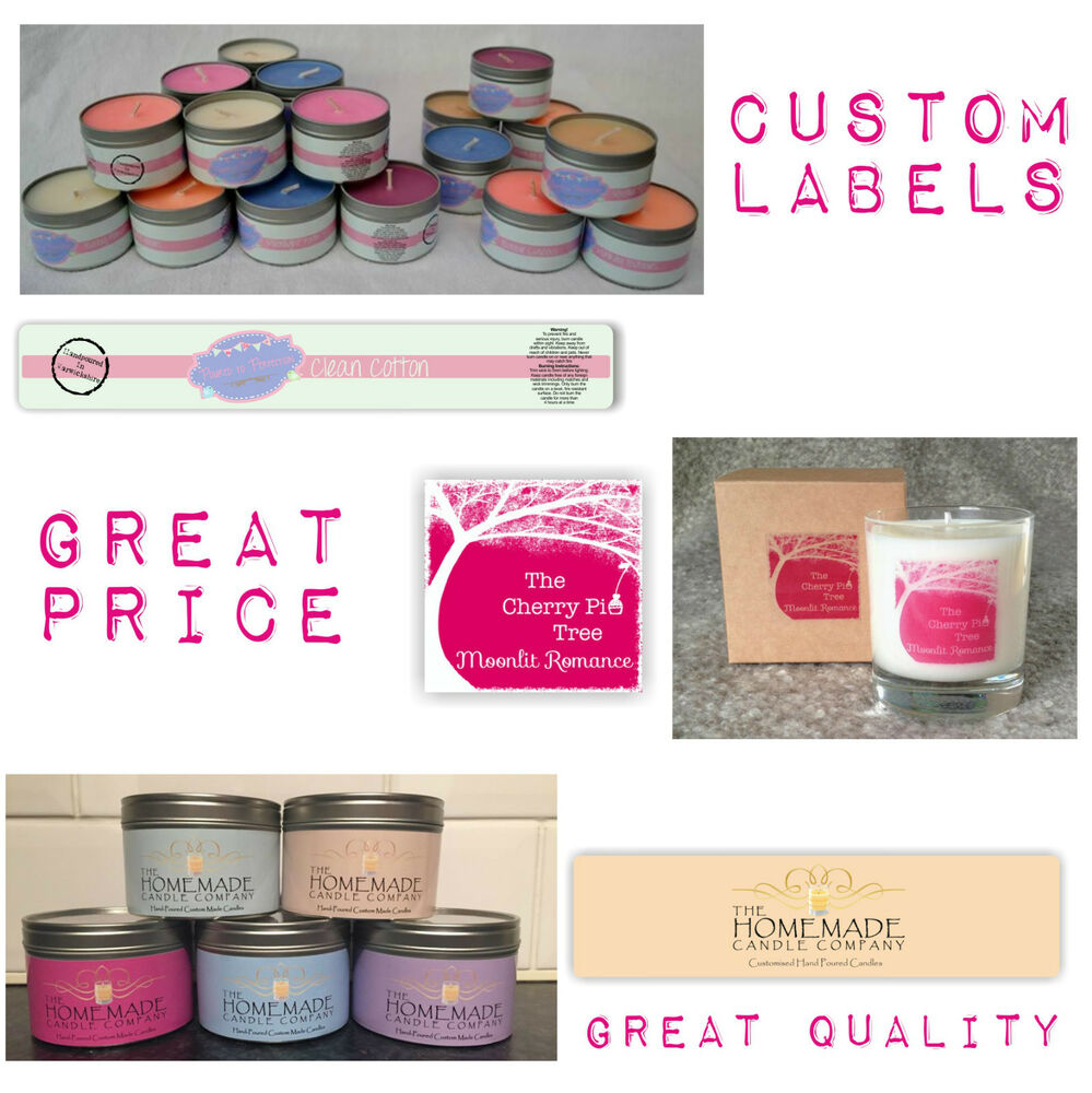 custom candle labels handmade tin jar box your image With custom candle labels designs