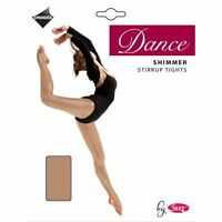 Ladies Shimmer Stirrup 70 denier Dance Tights with 10% spandex size S, M, and L