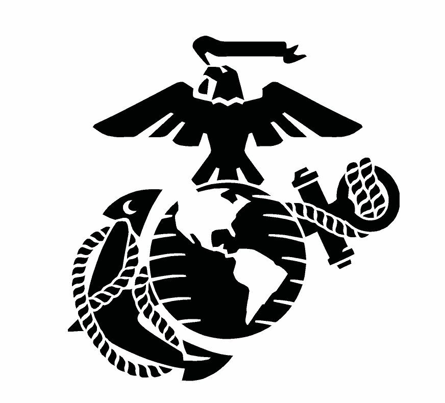 USMC Marine Corps Eagle Anchor Globe Stencil for Painting ...