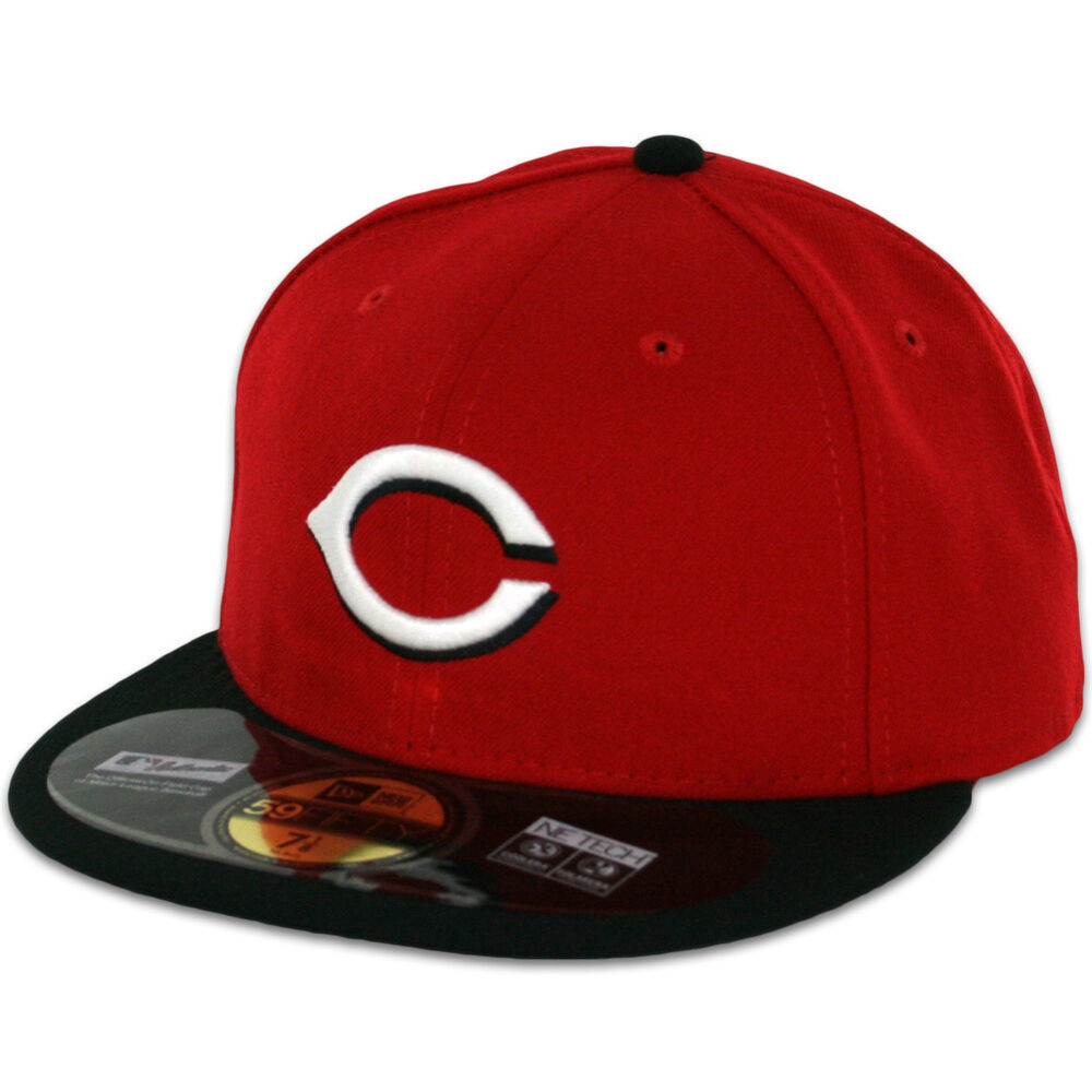 cincinnati reds road away redblack new era 59fifty fitted
