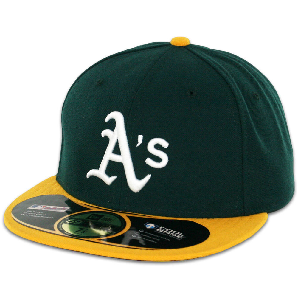oakland athletics a 39 s home game new era 59fifty fitted caps mlb ac on field hats ebay. Black Bedroom Furniture Sets. Home Design Ideas
