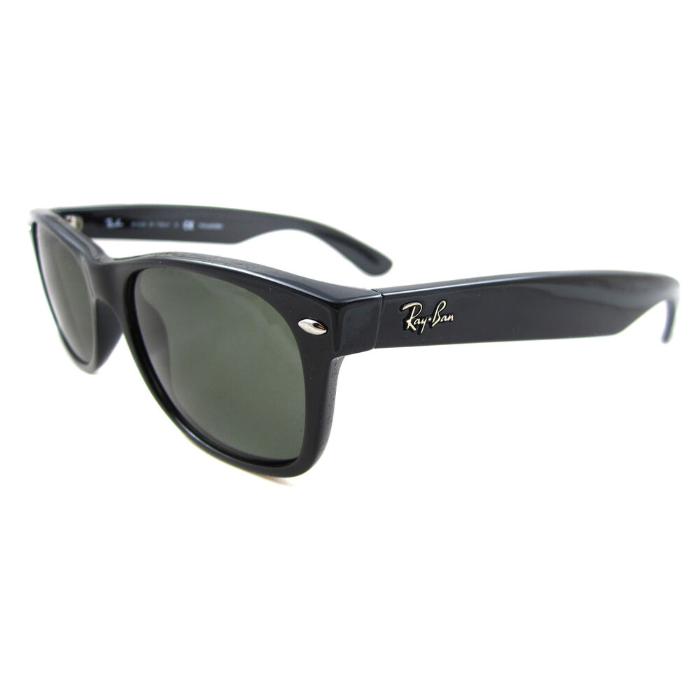 ray ban sunglasses new wayfarer 2132 901 58 black green polarized ebay. Black Bedroom Furniture Sets. Home Design Ideas