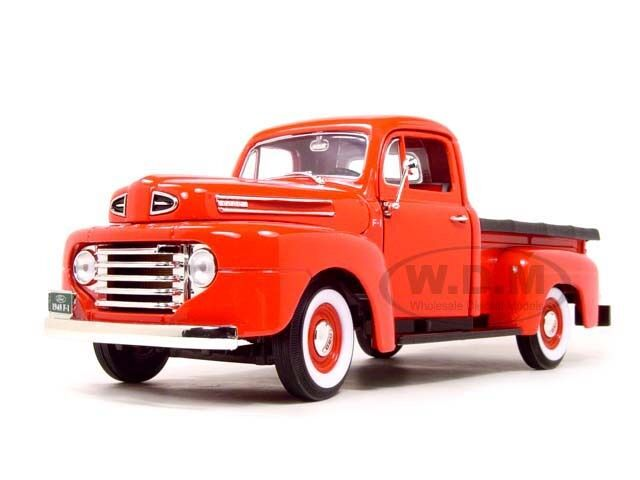 18 Toy Trucks : Ford f pickup truck red diecast model car by