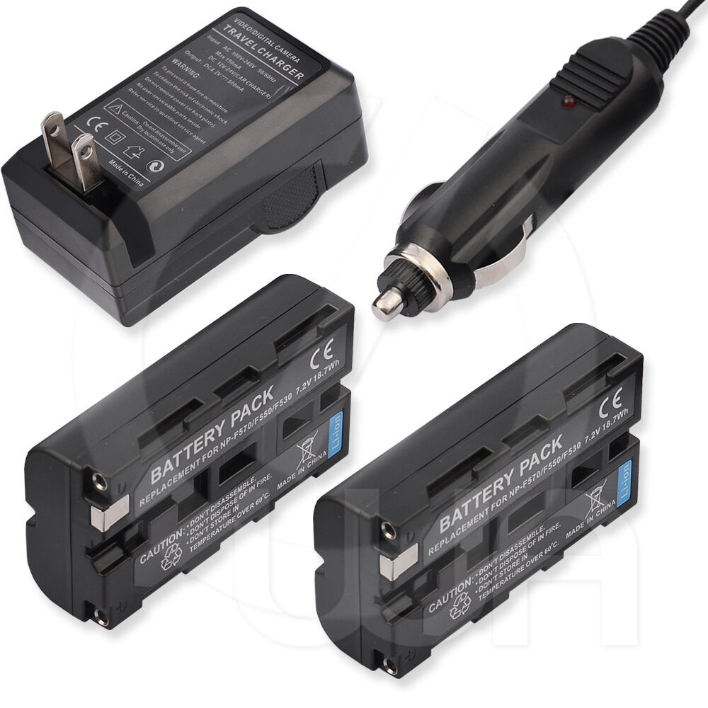 2x Battery Ac Dc Charger For Sony Hi8 Ccd Trv66 Video