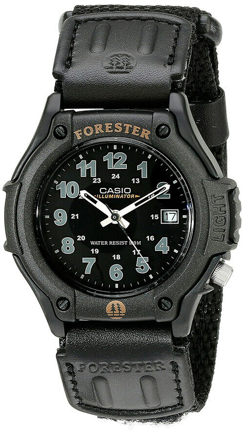 Casio men 39 s ft500wv 1bv electro luminescent forester analog sport watch ebay for Luminescence watches