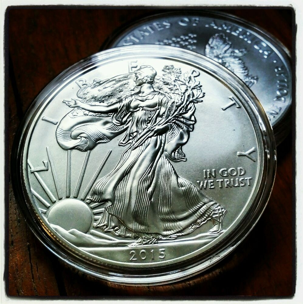 2015 Usa Us American Eagle Silver Coin Dollar 1 1 Oz Bu