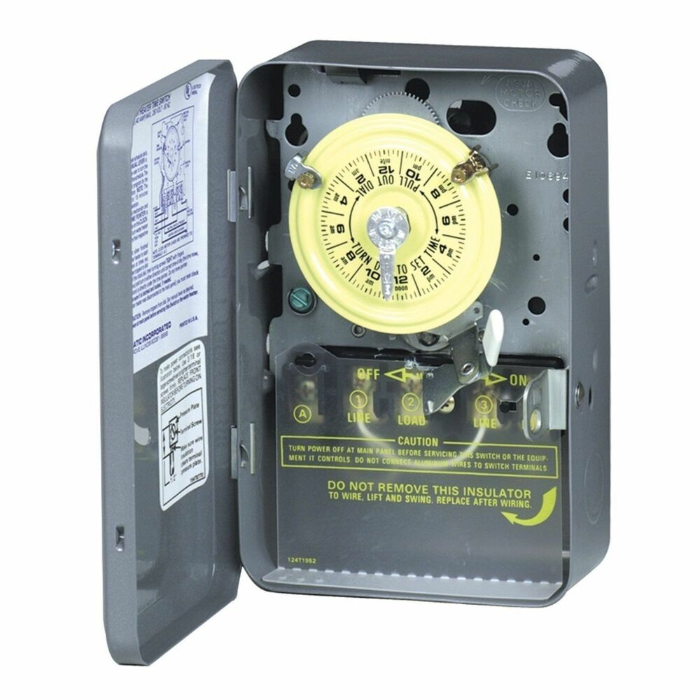 new intermatic wh40 40a 250v mechanical water heater timer. Black Bedroom Furniture Sets. Home Design Ideas