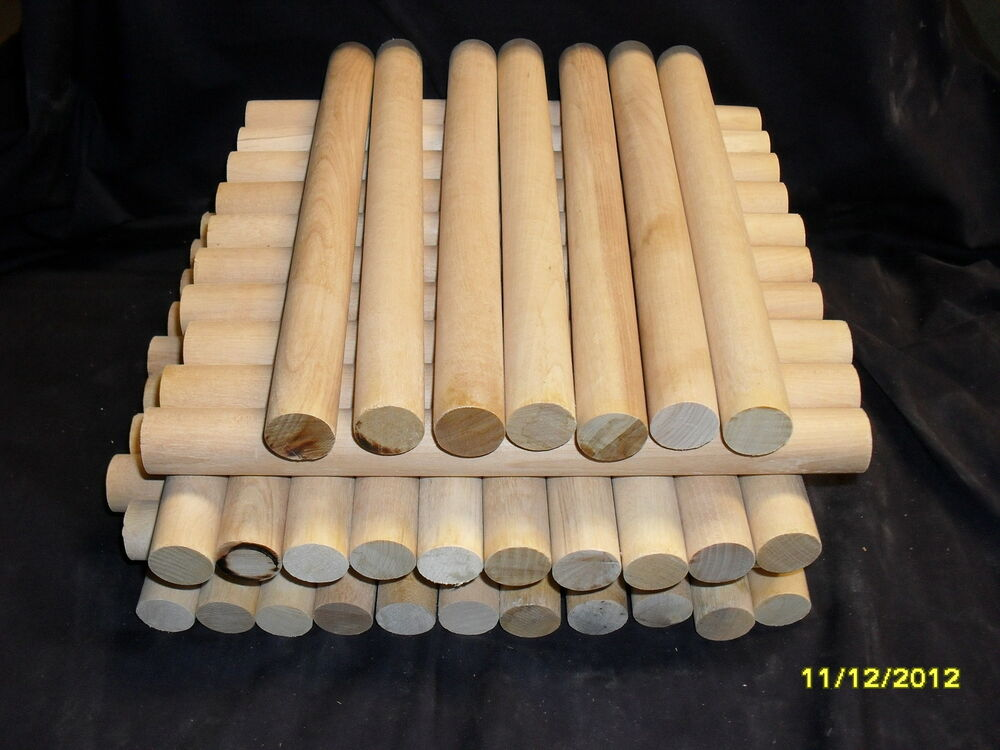 10 solid wood dowels 1 x 11in music rhythm sticks children for Wooden dowels for crafts
