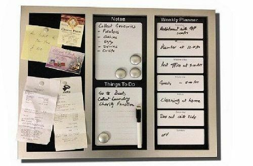 Black and white pin board