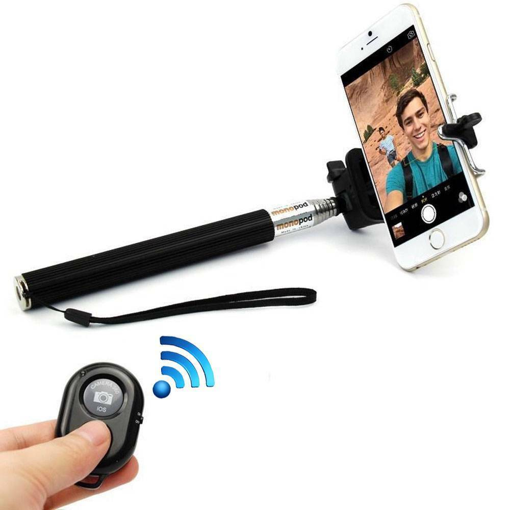 Monopod Selfie Stick Telescopic & Bluetooth Wireless