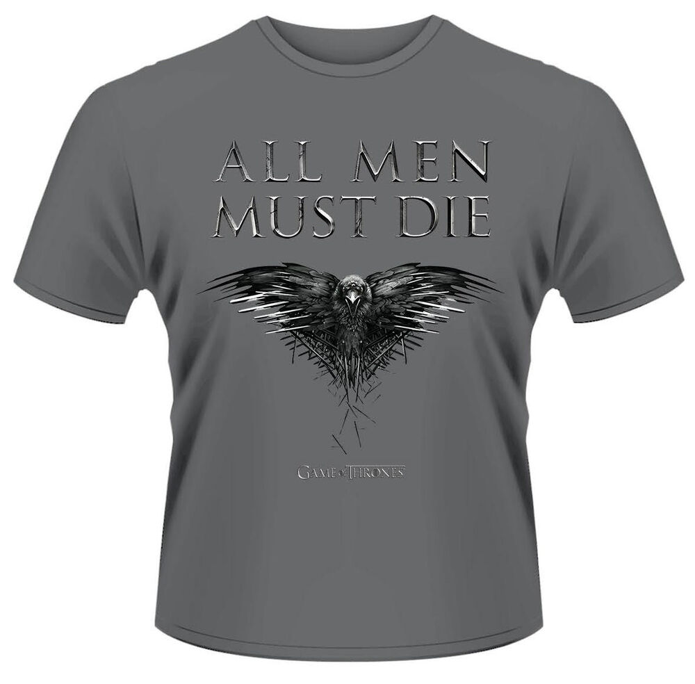 Game of thrones 39 all men must die 39 t shirt new for Throne of games shirt
