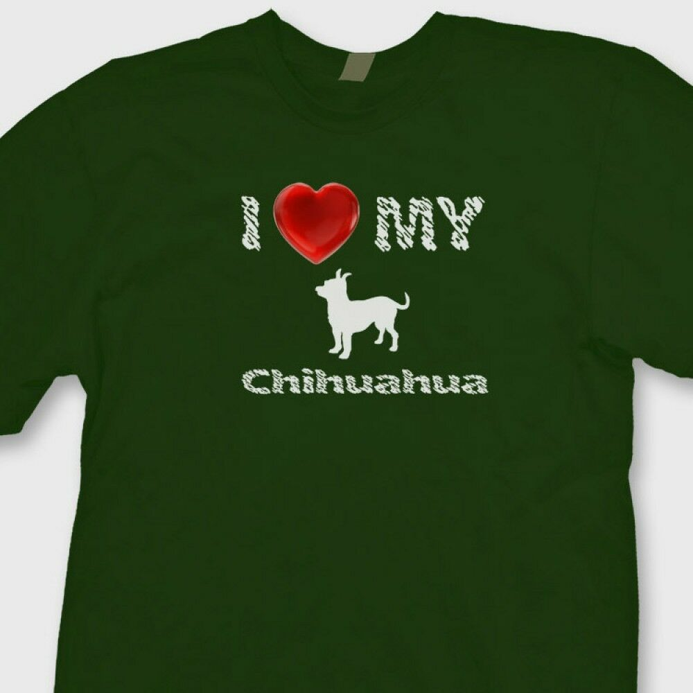 I heart my chihuahua t shirt love dog breed family pet tee for Dog t shirt for after surgery
