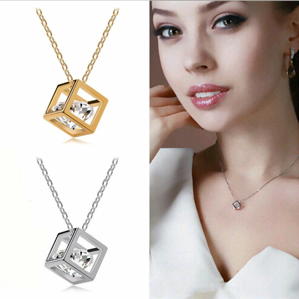 Popular Korean Style Magic Cube Bid Pendant Long Chain Necklace Charming Jewelry Ebay