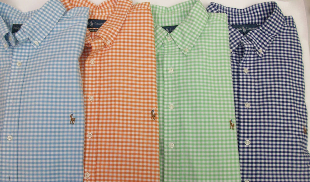 Polo Ralph Lauren Gingham Plaid Classic Fit Oxford Shirt