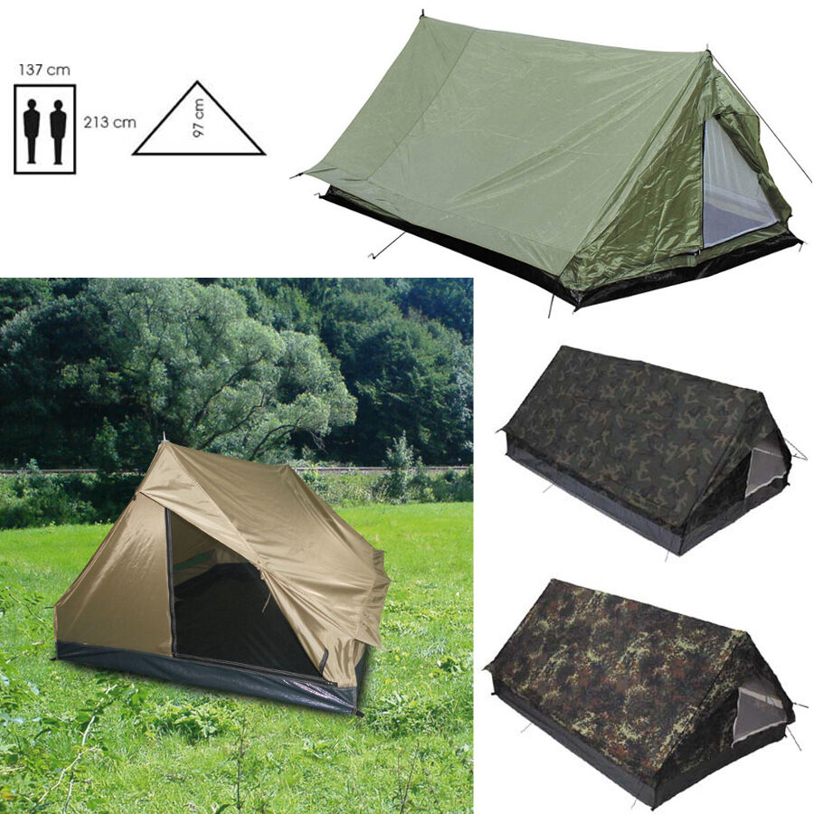 zelt 2 personen minipack camping tarn ranger armeezelt tent woodland flecktarn ebay. Black Bedroom Furniture Sets. Home Design Ideas