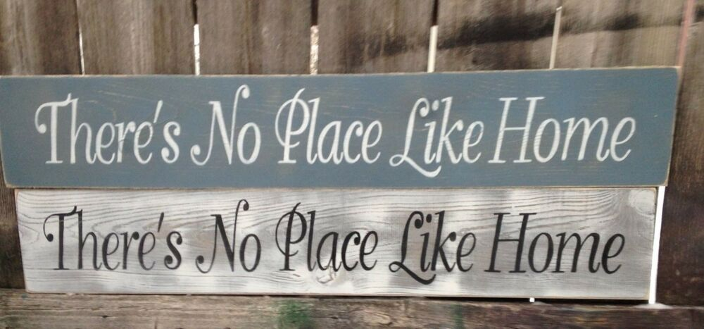 """Hand Painted """"There's No Place Like Home"""" Wood Sign ..."""