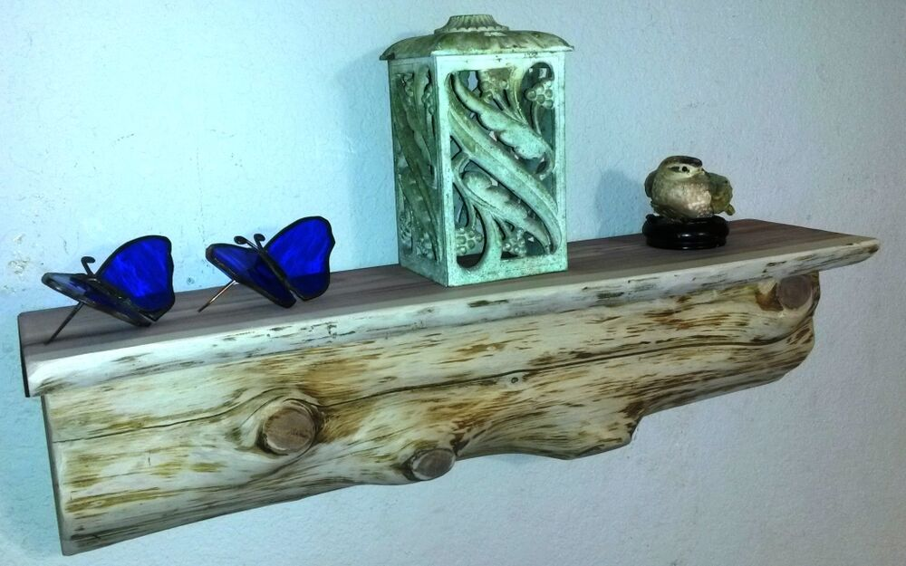 Rustic Log Home Decor: Cedar Log Shelf / Rustic /Wood/ Cabin / Lodge Decor /Log