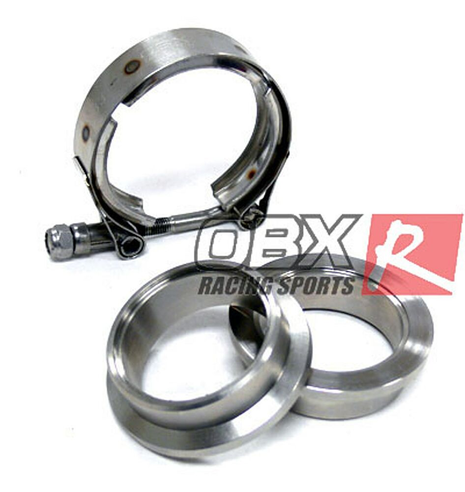 Obx Stainless Steel Vband V Band Flange Clamps Kit 3 Quot 3 00