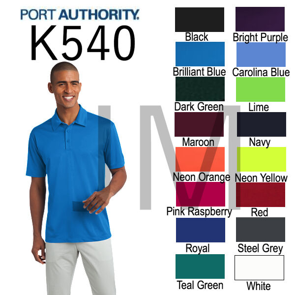 Port authority k540 mens dri fit silk touch polo xs 4xl for Mens xs golf shirts